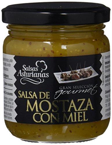 Salsas Asturianas Salsa de Mostaza a la Miel - 210 gr - [Pack de 6]