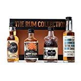 Rum Gift Set by The Rum Collection - Kraken Spiced Rum, Sailor Jerry Spiced Rum, Duppy Share Caribbean Rum, Cut To The Smoke Jamaican Rum - Spiced Rum Gift Set - 4 x Premium Rum Miniatures