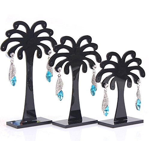 Three Piece Earring Set, Earring Board, Jewelry Stand, Jewelry Display Stand, Earring Display Rack, Storage,Six,Palm Money