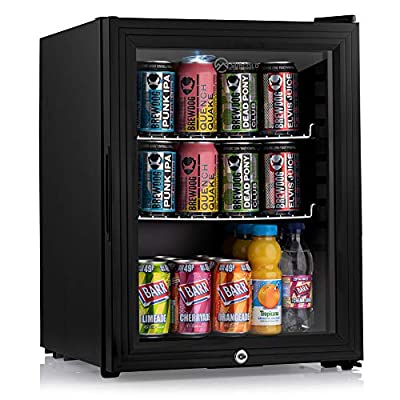 Subcold Super35 LED - Mini Fridge | 35L Beer, Wine & Drinks Fridge | LED Light + Lock and Key | Low Energy A++ (Black)