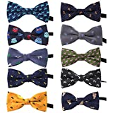 TOPTIE Adjustable Dog Bow Ties Collar Christmas Festival Pet Bowties Neckties for Party Grooming Accessories-Set A