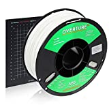 OVERTURE ABS 1.75mm Filament with Build Surface 200mm x 200mm 3D Printer Consumables, 1kg Spool (2.2lbs), Dimensional Accuracy +/- 0.05 mm, Fit Most FDM Printer (White 1-Pack)