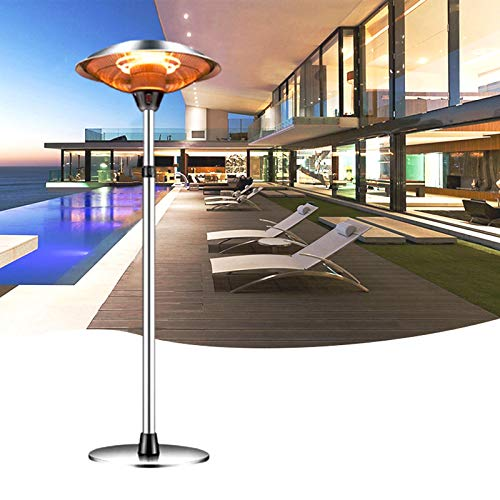 Awolf Outdoor Heaters for Patio Electric Only, 3 Heat Settings Waterproof Infrared Heater for Indoor Outdoor Courtyard Garden Use, Overheat Protection, Tip-Over Shut Off