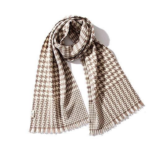 Lwieui Schal Frauen Schal Fransen Design Weiche Schurwolle Herbst und Winter Wild Strickschal Damen Square Schal (Farbe : Apricot, Size : One Size)