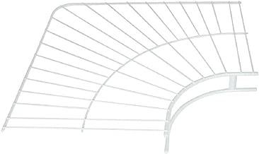 Rubbermaid Wire Shelving, Wardrobe, White, 12-inch Corner (FG3G30LWWHT)