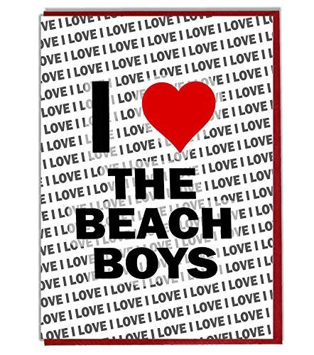 Ik hou van het strand jongens wenskaart - verjaardagskaart - dames - mannen - dochter - zoon - vriend - man - vrouw - broer - zuster