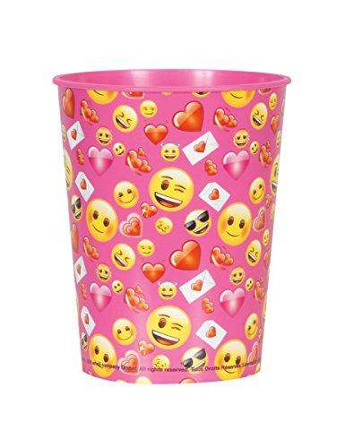COOLMP – Juego de 6 Vasos de plástico Emoji – Talla única – Decoración y Accesorios de Fiesta, animación, cumpleaños, Boda, Evento, Juguete, Globo