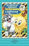 Tarjeta Felicitación cumpleaños con Imán Tazmania Piolín y gato Silvestro Baby Looney Tunes Warner Bros