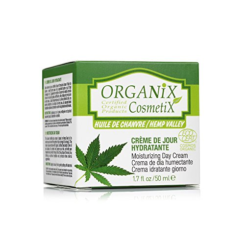 ORGANiX CosmetiX Hemp Valley Moisturizing Day Cream with Hemp Seed Oil and Hyaluronic Acid