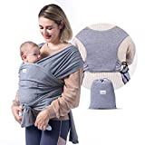 Momcozy Baby Wrap Carrier Slings, Infant Carrier Slings for Babies Girl and Boy (Grey)