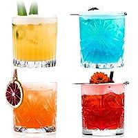 rcr cristalleria italiana s.p.a. mixology confezione 4 bicchieri, vetro, trasparente