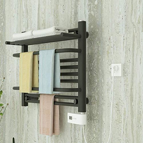 Home Equipment Calentador de toallas eléctrico con estante superior en acero inoxidable Enchufe eléctrico de bajo consumo en el estante de toallas con calefacción para riel calefactor de toallas de