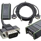 SHIJING Adaptador USB PC Cable Adaptador para Siemens S7-200/300/400 RS485 Profibus/MPI/PPI de 9 Pines Reemplazar para Siemens 6ES7972-0CB20-0XA0
