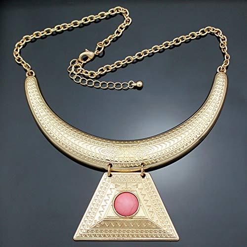 VAWAA Aztec Oro Egipcio Reina Cleopatra Faraón Illuminati Pirámide Babero Maxi Declaración...