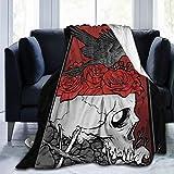 BODY Manta de Forro Polar con diseño de pájaro y Rosas, para el hogar, para...