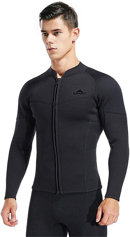 Dbart 3mm Wetsuit Jacket Men Long Sleeve Neoprene Front Zipper Zipper Zipper Surf Winter Swim Warm Surf Upstream,XL B07P42WG2L  Neuankömmling b69570