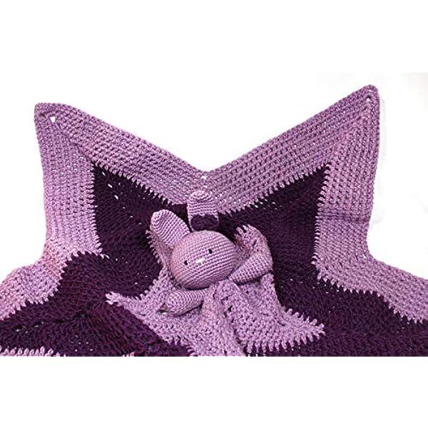 Manta de apego coneja tejida a crochet. Un regalo perfecto para bebés, niños y niñas. - Ecart
