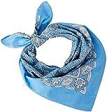 Tobeni 548 Bandana Head- Pañuelos para el Cuello de Tela 100% Algodón Unisex Color Cachemir Azul Claro Tamaño 54 cm x 54 cm