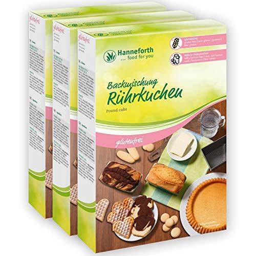 Glutenfreie Backmischung Rührkuchen | 3x400gr | Hanneforth