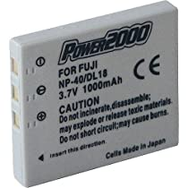 power2000np-40N交換用リチウムイオン充電式バッテリー3.7V 1000mAh for Fujifilm FinePixデジタルカメラ