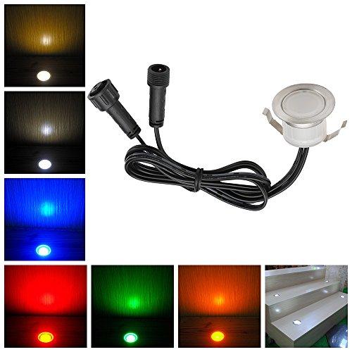 LED Deck Lights Kit, Low Voltage 1 pcs Waterproof IP65 Φ1.22