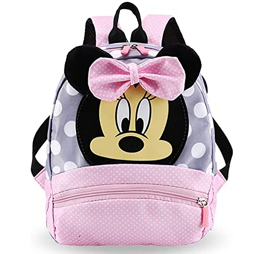 FGen Mochila Infantil, Mochila Diseñada Por el Personaje De Minnie mouse, Adecuada Para la Escuela, Mochila Infantil De Viaje, Mochila 3D de Regalo Para Niña