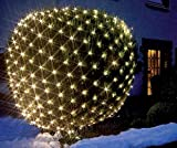 LED Lichternetz Gartenbeleuchtung Pavillonbeleuchtung Balkon 3 x 3 m 240 LED warmweiss IP44 Außen