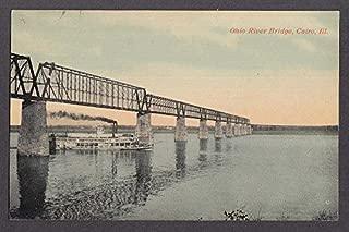 Ohio River Bridge Cairo IL postcard 1910s