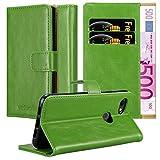 Cadorabo Hülle für Google Pixel 3a in Gras GRÜN – Handyhülle mit Magnetverschluss, Standfunktion & Kartenfach – Hülle Cover Schutzhülle Etui Tasche Book Klapp Style