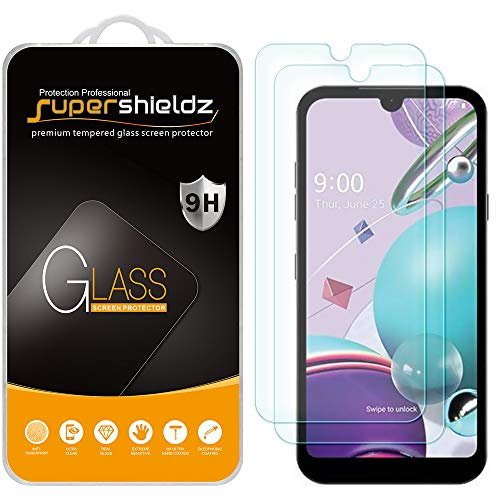 (2 Pack) Supershieldz Designed for LG K31 and K31 Rebel Tempered Glass Screen Protector, Anti Scratch, Bubble Free