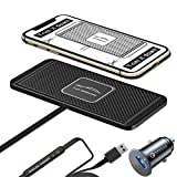 Wireless Car Charger QC 3.0 USB Adapter DIY Qi Charging Pad Fast 15W 10W 7.5W Quick Charge for iPhone 12 Mini 11 Pro Max 8 Plus X XR Xs Compatible Moto LG G8 Samsung Galaxy S10 S20 Note Android Phones