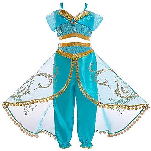 Atorcher - Disfraz de princesa, con lentejuelas, conjunto de disfraz para niñas