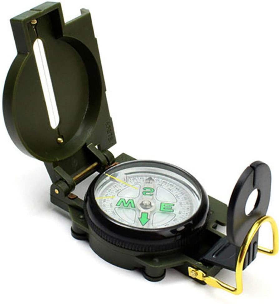 MDHANBK Campsle Portable Army Green M Lens Folding Compass SEAL limited product Metal Kansas City Mall