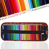 TOYESS 48 Professional Colouring Pencils Set with Pencil Case for Adults Colouring, Wood-Free