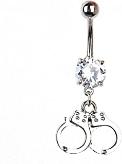 Sexy Dangle Belly Bars Belly Button Rings Fashion Surgical Steel Rhinestone Body Jewelry Navel Piercing Rings NO 1