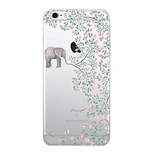 TNCYOLL iPhone 6s Case,TNCY Cartoon Design Clear TPU Soft Rubber Heavy Duty Bumper Skin Cover for Apple iPhone 6 6s (Elephant)