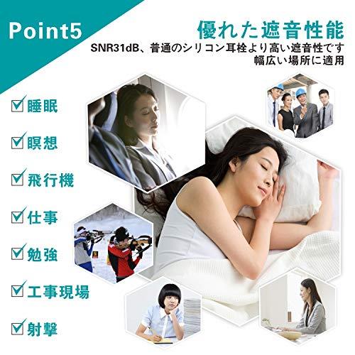 耳栓安眠防音Quietide睡眠用耳栓最新の設計遮音値31dB睡眠飛行機仕事勉強繰り返し使用可能携帯ケース付き一年保証日本語説明書付Q4ブラック