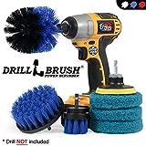 Drillbrush - Drill Pinsel Leistung Scrubber - Dusche Bürste - Schnurlos-Fliesenreiniger - Scrubber Cleaning Kit - Scrub Driver - Badreiniger Pads - Porzellan Sink Cleaner - Badewanne Lasurreiniger