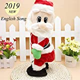 SdeNow Twerking Santa Claus, Musical Shaking Hips Santa Claus Singing Dancing Christmas Santa Claus Toys Xmas Electric Dolls for Kids- English Song