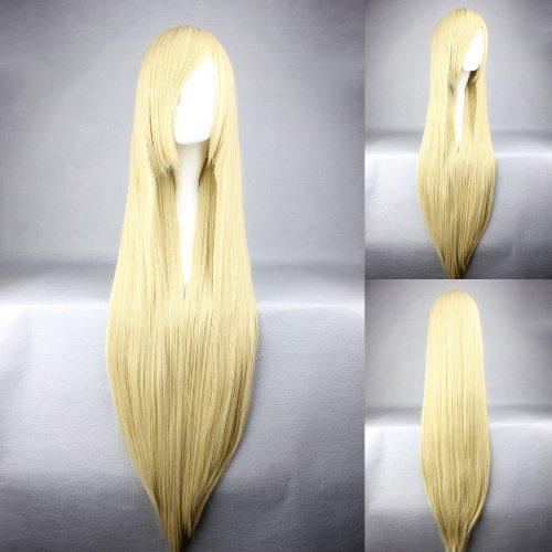 Ladieshair Cosplay Perücke blond 100cm glatt Umineko no Naku Koro ni