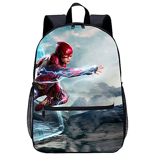 Zaino moda bambino personalizzato Justice League Flash Borsa da scuola stampata in 3D, borsa da scuola per il tempo libero per bambini, adatta per ragazzi e ragazze
