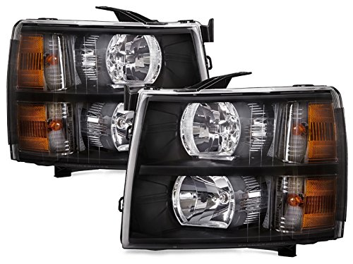 PERDE Black Halogen Headlights For Silverado