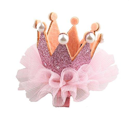 Kentop Pinza de Pelo de Niña Linda Horquilla de Forma de Corona para niñas y bebés