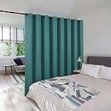 NICETOWN separadores de habitaciones para cortinas, separador de cuarto de lavandería de alta calidad para oficina, estilo clásico y corredera, 1 panel, 4,6 m de ancho x 2,4 m de largo