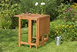 MERXX Doppelklappentisch aus Eukalyptus in braun, ca. 107x65 cm, FSC Mix