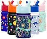 Simple Modern 10oz Summit Kids Water Bottle Thermos with Straw Lid - Dishwasher Safe Vacuum Insulated Double Wall Tumbler Travel Cup 18/8 Stainless Steel -Jungle Safari