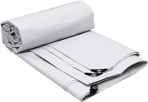 Baches LAOSUNJIA imperméable extérieure en Plastique de (Couleur   Blanc, Taille   8M×6M)