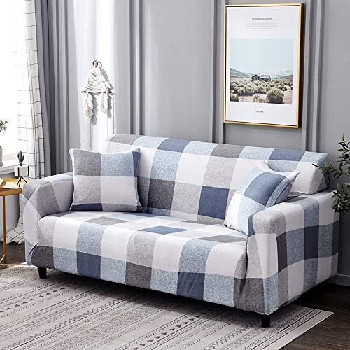 Funda de sofá elástica Floral de algodón elástico para Silla Todo Incluido Funda de sofá de Esquina Fundas de sofá para Sala de Estar Mascotas A17 1 Plaza