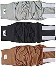 Pet Parents Premium Washable Dog Belly Bands (3pack) of Male Dog Diapers, Dog Marking Male Dog Wraps, WickQuick Belly Band for Male Dogs Color: Natural, Size: Extra Small Dog Belly Band