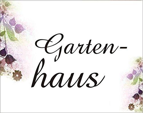 Creativ Deluxe Gartenhaus Metallschild/Blechschild/Dekoschild/Wandschild/wetterfest/Innenbereich/Außenbereich/Motivation/Vintage